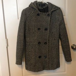 Anne Klein peacoat with hood
